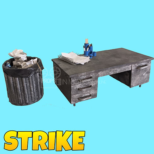 Strike (2018) Control's Mine Work Room Desk + Trash Can  (S94)