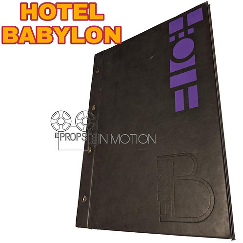 Hotel Babylon (2006-2009) Menu (0593)
