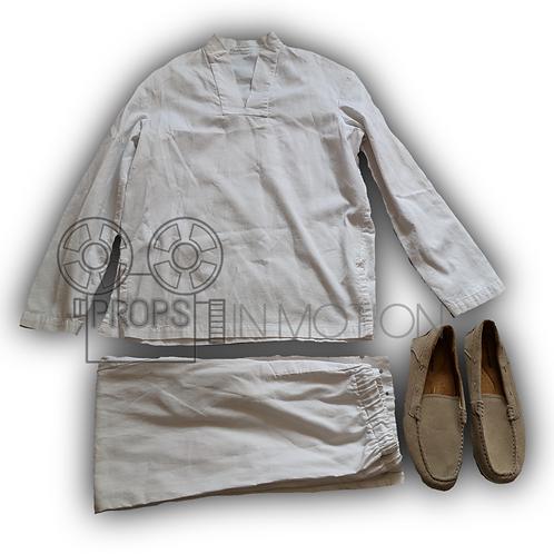 Enders Game (2013) Mazer Rackham's (Ben Kingsley) Kurta Costume (0569)