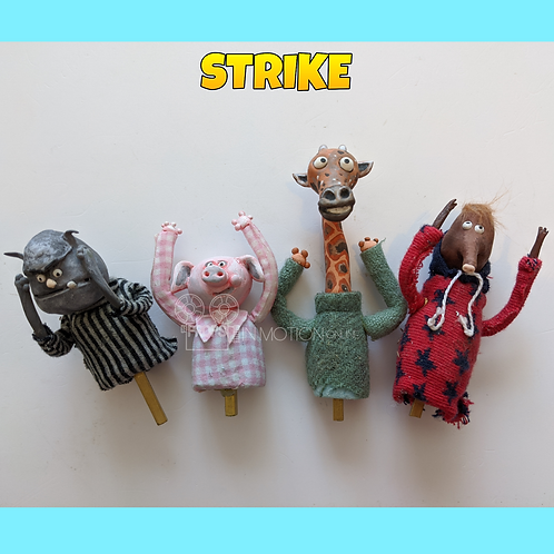 Strike (2018) 4 Crowd Puppets (S171)