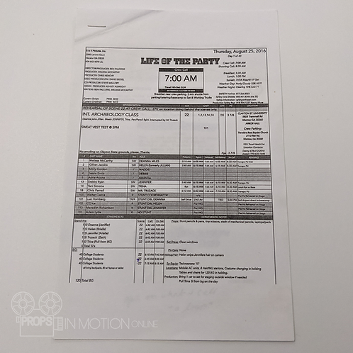 Life of the Party (2018) Helen (Gillian Jacobs) Script Side (0892)