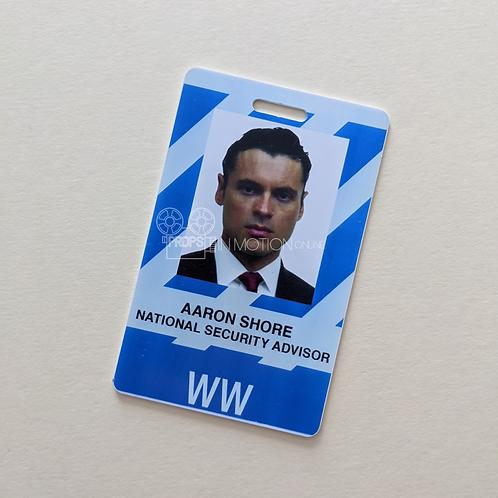 Designated Survivor (TV) (2016-2019) Aaron Shore (Adan Canto) ID Card (0568)