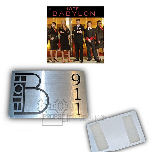 Hotel Babylon (2006-2009) Room 911 Door sign