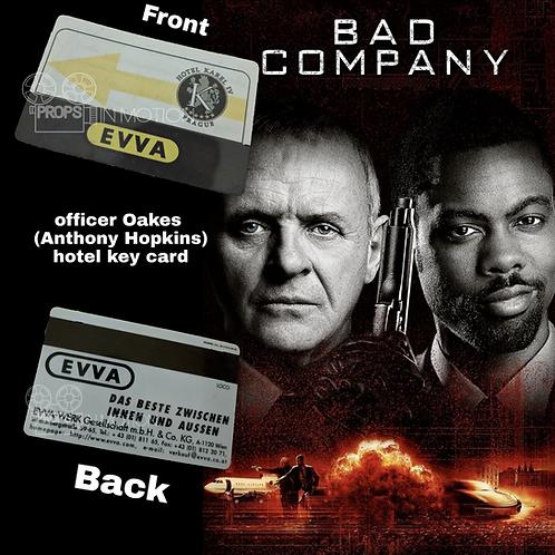 Bad Company (2002) Officer Oakes (Anthony Hopkins) Hotel Key Card (0648)