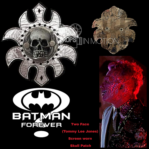 Batman Forever (1995) Two Face (Tommy Lee Jones) Skull Patch (0609)