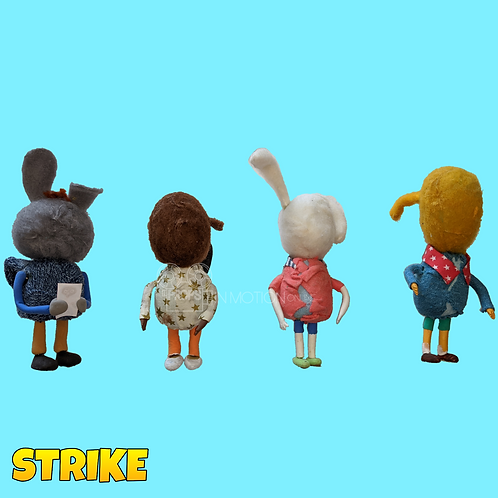 Strike (2018) 4 Faceless Children Mungo Fans (S142)