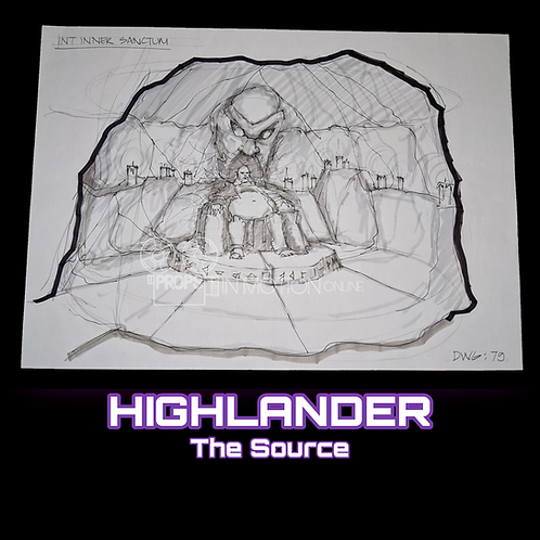 Highlander The Source (2007) Hand Drawn Concept art