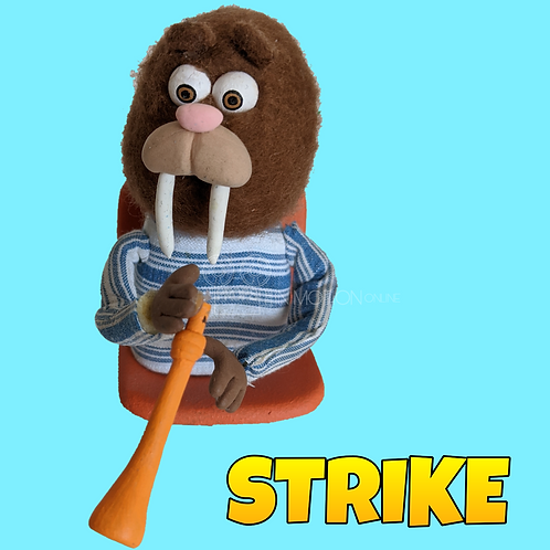 Strike (2018) Stadium Crowd Stop Motion Puppet with Seat (S06)