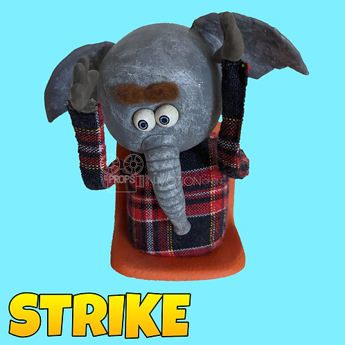 Strike (2018) Stadium Crowd Stop Motion Puppet with Seat (S05)