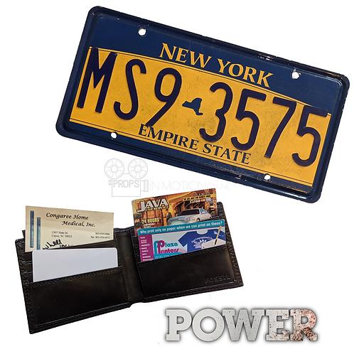 Power (TV) (2014-2020) Kanan (Curtis '50cent' Jackson) Plate + Wallet (0694)