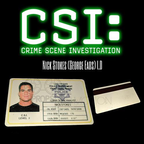 CSI (2000-2015) Nick Stokes (George Eads) ID (0669)