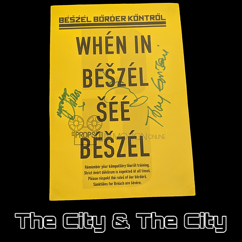 The City and the City (TV) (2018) Signed Beszel Flyer