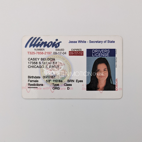 The Unborn (2009) Casey (Odette Annable) Drivers license (0816)