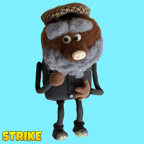 Strike (2018) Old Bearded Mole Miner Stop Motion Puppet (S126)
