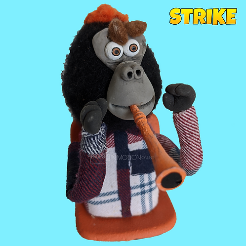 Strike (2018) Stadium Crowd Stop Motion Puppet with Seat (S29)