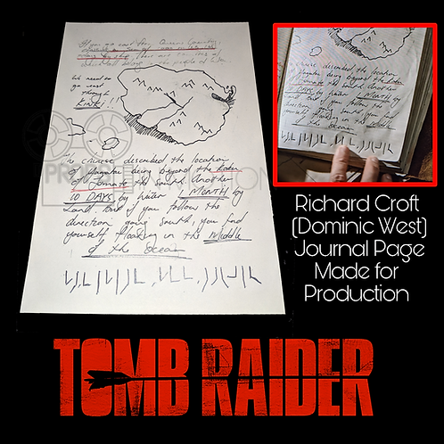 Tomb Raider (2018) Page of Richard Crofts (Dominic West) Journal