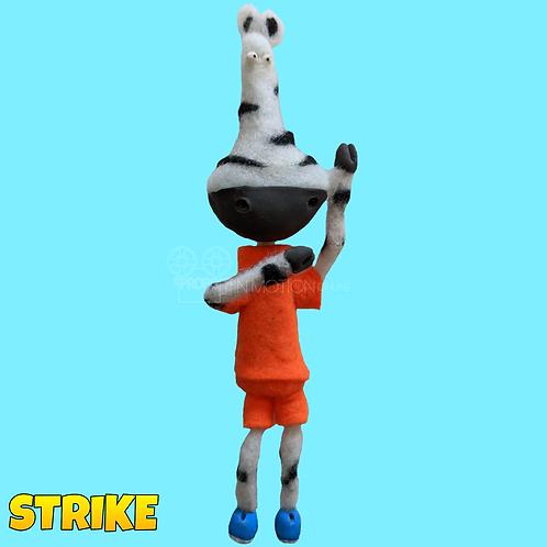 Strike (2018) Zebra Footballer puppet (S153)