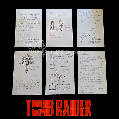 Tomb Raider (2018) Collection of Richard Croft Journal Pages