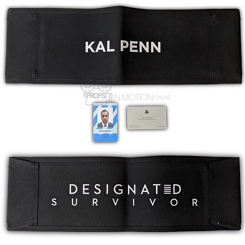 Designated Survivor Seth (Kal Penn) Chairback + ID + Business Card (0582)