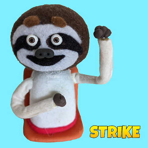 Strike (2018) Stadium Crowd Stop Motion Puppet with Seat (S08)