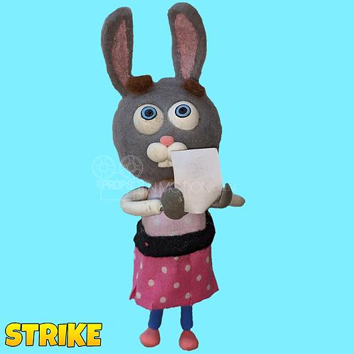 Strike (2018) Autograph Hunter Rabbit Puppet (S134)