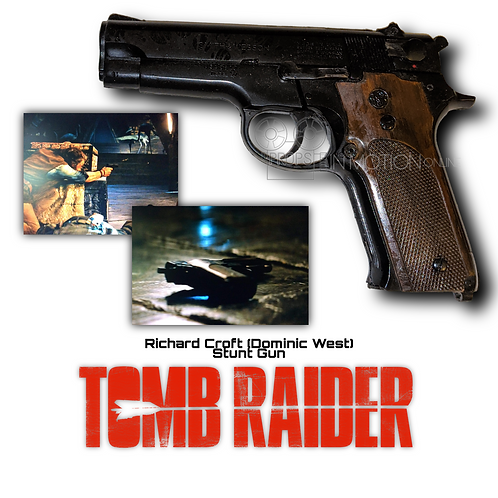 Tomb Raider (2018) Richard Croft (Dominic West) Stunt Rubber Pistol (0526)