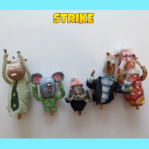 Strike (2018) 5 small puppets (S170)