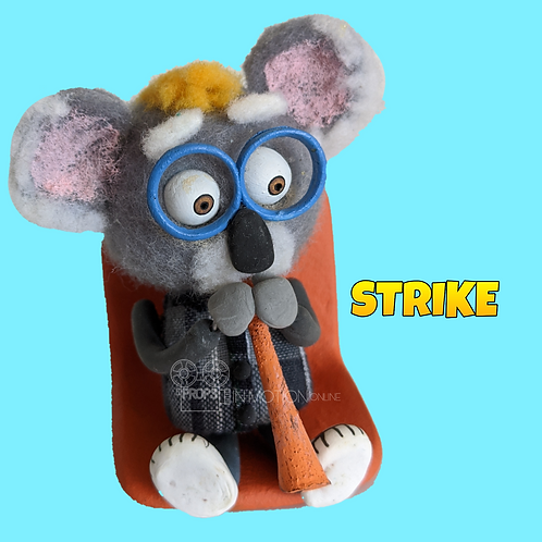 Strike (2018) Stadium Crowd Stop Motion Puppet with Seat (S11)