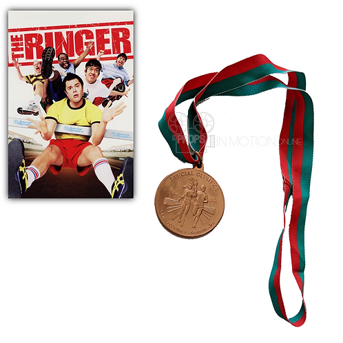 The Ringer (2005) Jeffy (Johnny Knoxville) Special Olympics Bronze Medal (0632)
