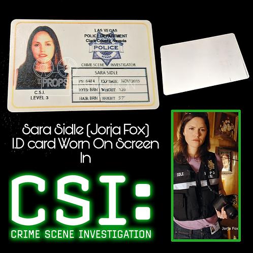 CSI : Crime Scene Investigation (2000-2015) Sara Sidle (Jorja Fox) I.D (0603)