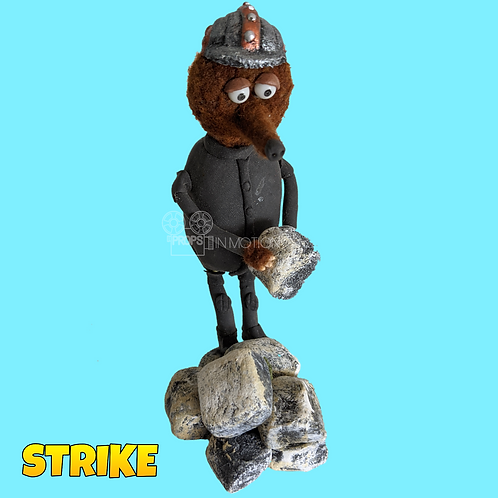 Strike (2018) Miner Stop Motion Puppet (S69)