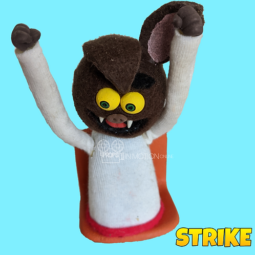 Strike (2018) Stadium Crowd Stop Motion Puppet with Seat (S09)