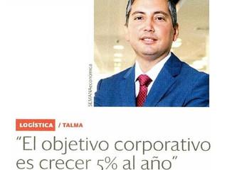 El objetivo corporativo es crecer 5% al año