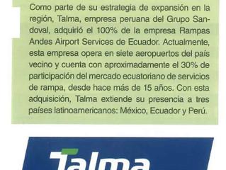 Talma inicia operaciones en siete aeropuertos de Ecuador