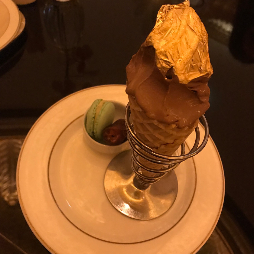 Gold ice cream Emirates Palace