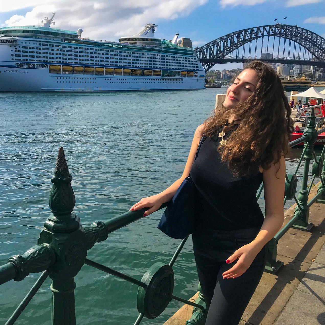 Walking at the Circular Quay