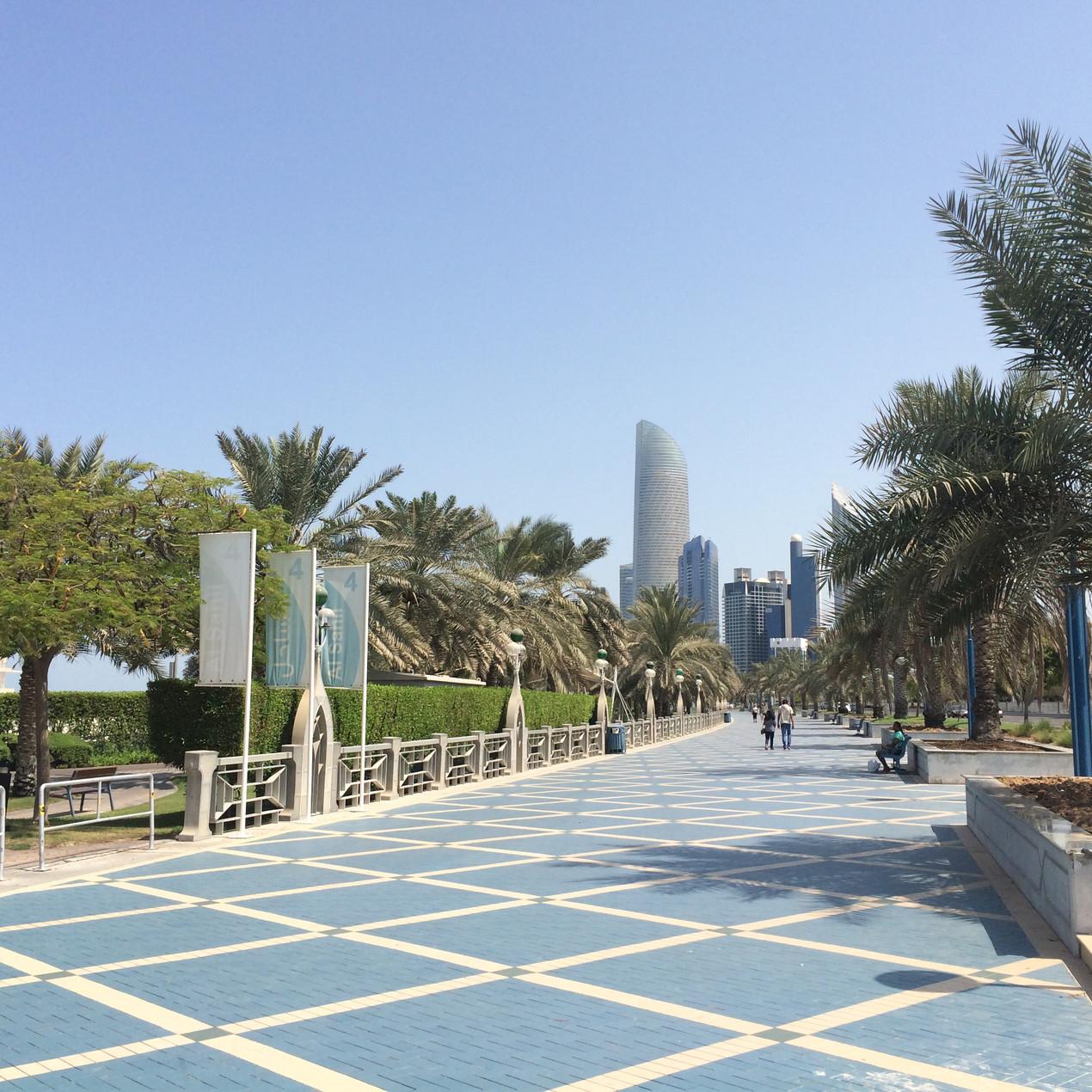 The Corniche in Abu Dhabi