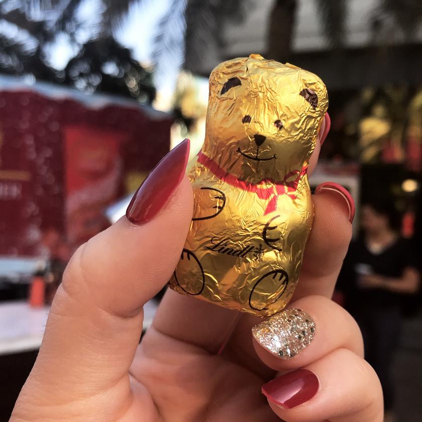 Lindt Christmas Chocolate Teddy Bear.