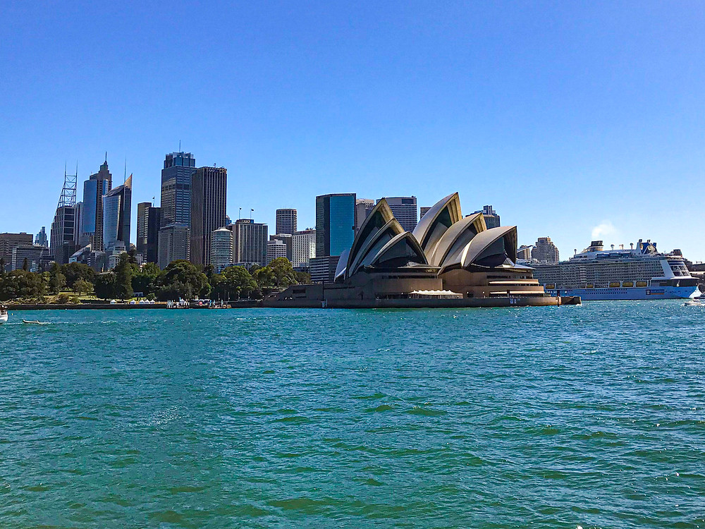 Opera House in Sydney from a boat