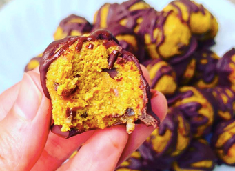 Pumpkin Chocolate Chip Cookie Dough Truffles