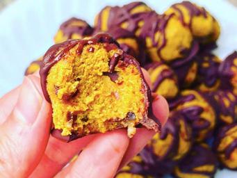 Pumpkin Chocolate Chip Cookie Dough Truffles