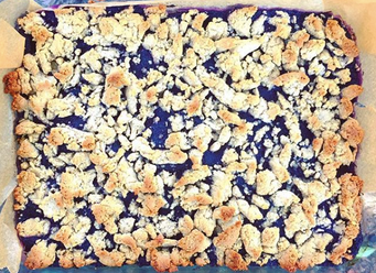 GF Blueberry Crumb Bars