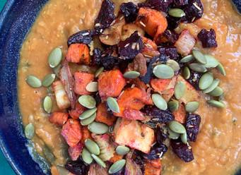 Roasted Root Vegetable & Red Lentil Stew