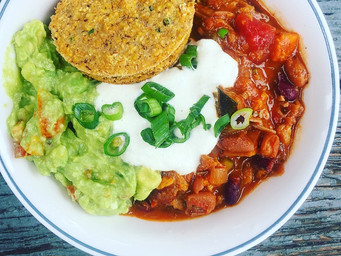Eat With The Seasons- Cooking for Warmth + Roasted Vegetable Chili