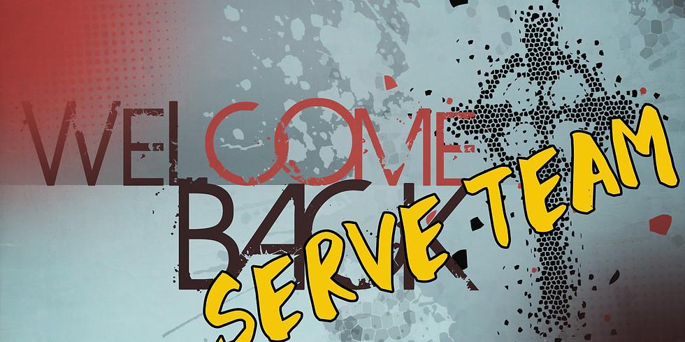Welcome Back Serve Team Reservation