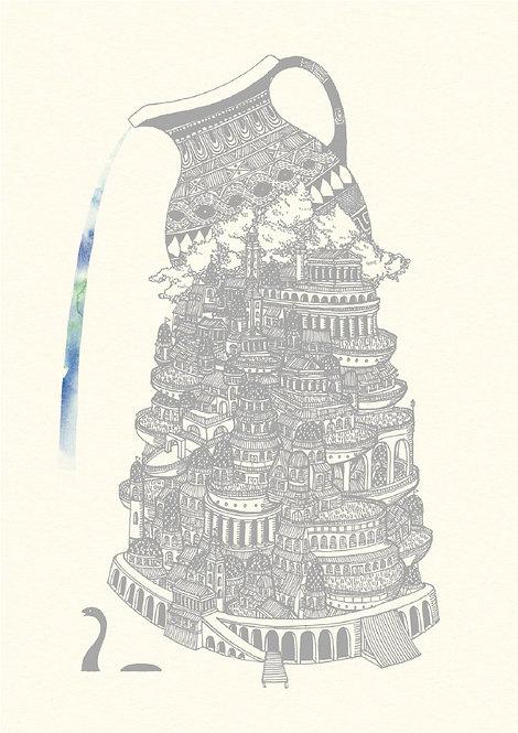 The City of Aqua city of water