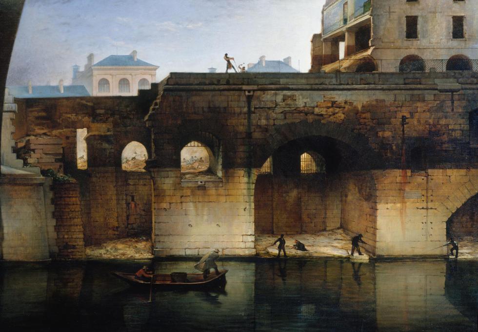 Démolition de l'ancien Hôtel-Dieu ; les cagnards