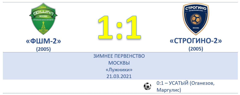 "8 ТУР: ""ФШМ-2"" (г) 1:1"