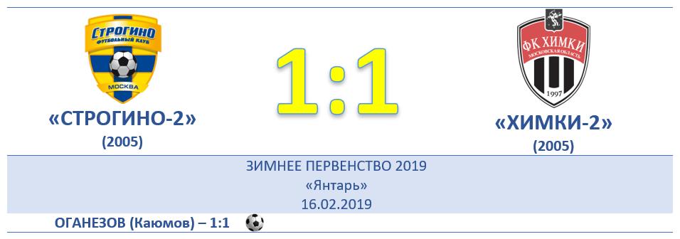 """7 ТУР: """"ХИМКИ-2"""" (д) 1:1"""