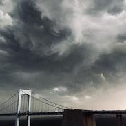 Stormy skies.